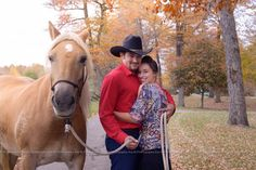 Fall Engagement Session with a Horse. Eva M Photographyhttp://www.evamphotography.com/jesse-leona-engagement-session/
