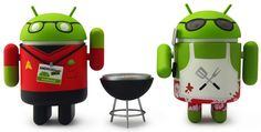 Android Summer Edition: Comic-Con Variant! Includes Fandroid with lanyard and badge and Griller with spatula and grill accessory. Both come packed in a special dual window box!