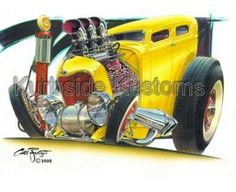 Chris Froggett hot rod art
