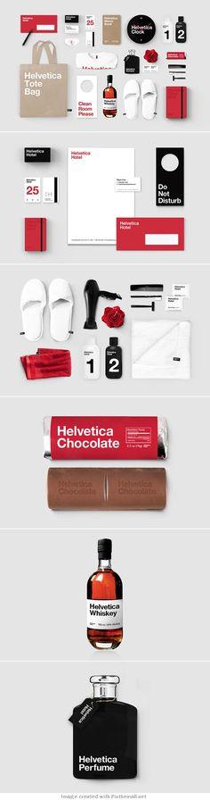 Helvetica Hotel – Branding Study by Albert Son - created via http://pinthemall.net