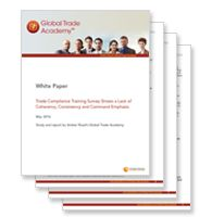 Download our new Trade Compliance Training Survey white paper to learn about the benefits of on-going training.  http://bit.ly/1Ub0wEY