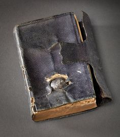 A soldier during the Civil War had his life saved by the Bible in his pocket.  He wrote to President Lincoln about it, and the President sent him a replacement with the Presidential signature. life save, soldiers, letter, presidenti signatur, breast pocket, bible, presid lincoln, bullets, the civil wars