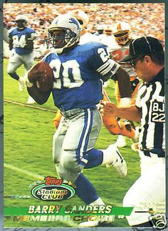 Detroit Lions 1993 Stadium Members Choice Barry Sanders Free Shipping | eBay
