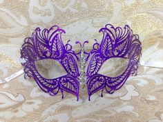 Masquerade Purple Mask Collection by MasqueradeCollection on Etsy