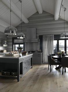 Cabin Homes, Log Homes, Interior Design Kitchen, Interior Design Living Room, Native Kitchen, Cabin Chic, Dere, Cabin Interiors, Cabin Design