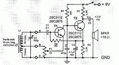 two transistor AM radio receiver circuit schematic