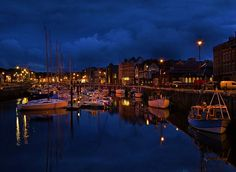 Douglas Inner Harbour By Night by Claire S on 500px
