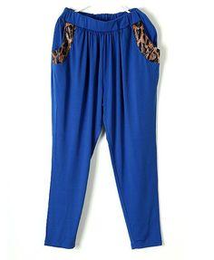 Blue Hareem Trousers