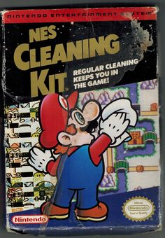 NES Cleaning Kit box (front only) Vintage Video Games, Classic Video Games, Retro Video Games, Vintage Games, Video Game Art, Nes Games, Games Box, Super Mario World, Super Mario Bros