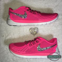 the best attitude 4556b b8239 Swarovski Nike Shoes Bling Nike Free 5.0 Pink Girls Women s Running Shoes  Customized with Swarovski Crystals Authentic New In Box
