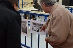 Le 15 septembre 2013, lors de la première édition des journées européenne du patrimoine à l'AFORP Mantes, une ancienne ouvrière se reconnait sur la photo d'un banquet organisé en 1950 pour les trente de la filature Le Blan. (© crédit photo AFORP)