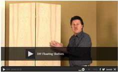#Video: DIY Floating Shelves These shelves appear to float against the wall with no visible supports. The Family Handyman editor, David Radke, will show you how to build these shelves easily from 36 inch, hollow core bi-fold doors. This project may look complicated, but it's not. Watch: http://www.familyhandyman.com/woodworking/shelves/diy-floating-shelves