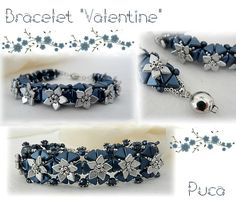 Bracelet Valentine Khéops®par Puca® Pastel Montana Blue