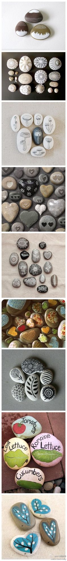 Painted Rocks - The ones that we have collected from trips would be especially cute!