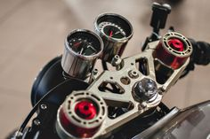 Sacha Lakic's high-performance Honda CX500 cafe racer.