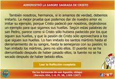 MISIONEROS DE LA PALABRA DIVINA: REFLEXIÓN - ADMINISTRÓ LA SANGRE SAGRADA DE CRISTO...