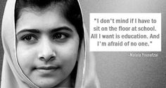 """The Girl Who Just Wants To Learn of the Day: Meet Malala Yousafzai, a Pakistani girl shot by the Taliban this week on her way home from school — """"A bullet struck her head, but her brain is safe,"""" one of her doctors reported. Malala Yousafzai, We Are The World, Change The World, Nobel Peace Prize, Nobel Prize, A Course In Miracles, Inspiring Things, Inspiring Women, Inspiring People"""