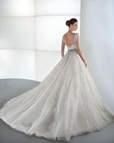 The back on this Demetrios gown is stunning