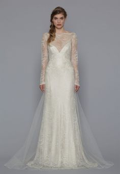 Find Wedding Dresses by David Fielden thanks to our search engine. Discover the latest tips and trends in Wedding Dresses by David Fielden . Pnina Tornai, Stunning Wedding Dresses, Wedding Dress Shopping, Chantilly Lace, Sheer Fabrics, Bridal Style, One Shoulder Wedding Dress, Marie, Tulle