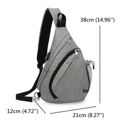 Multi Pocket Dacron Chest Bag Casual USB Socket Crossbody Bag For Women Men is worth buying - NewChic Mobile