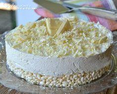 Torta fredda biancorì ricetta senza cottura ricetta facilissima per una torta golosa con tanto cioccolato bianco e riso soffiato ispirata ai mitici biancorì