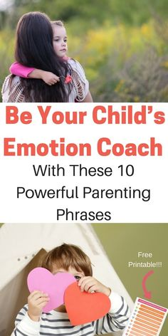 Parenting is hard, especially when emotions are big. Coach your child through big emotions with these 10 powerful parenting phrases. Teach kids to work through emotions and connect with their hearts. Give your child the gift of emotional intelligence and set them up for life. #positiveparenting #parenting #mindfulparenting #nurtureandthrive #emotionalintelligence #parentingphrases  via @nthrive