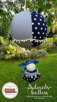 Adventskalender und Kinderzimmerdeko -Adventsballon- (Nähanleitung und Schnittmuster von shesmile)