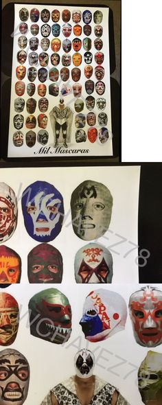 Wrestling 2902: Wrestling 20 X30 Poster Of Lucha Libre Legend Mil Mascaras, Wwe Hall Of Fame -> BUY IT NOW ONLY: $45 on eBay!