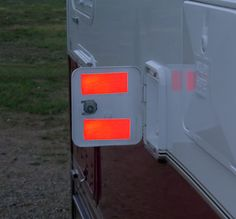 RVs, any car or truck: Put a couple strips of reflective tape on the inside of the door. The next time you have to pull over on the shoulder at night, open the door and you'll have a brilliant attention-getter right where it will do the most good. Camper Life, Truck Camper, Rv Campers, Rv Life, Camper Trailers, Travel Trailers, Do It Yourself Camper, Camper Hacks, Rv Hacks