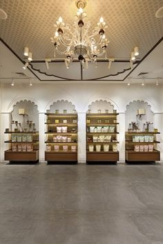 Rustic Traditional And Elegant Theme Retail Store Store Layout, Office Furniture Design, Hand Painted Plates, Showroom Design, Store Interiors, Rustic White, Retail Shop, Ceiling Design, Store Design