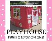 Card Table Playhouse Pattern, Deluxe, Instant Download at Purchase, Sew the Playhouse seen on the Today Show, eBook over 45 pages. $25.00, via Etsy.