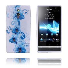 Symphony (Blå Blomster) Sony Xperia P Deksel