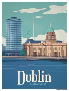 Dublin Poster by IdeaStorm Studios ©2017. Available for sale at ideastorm.bigcartel.com