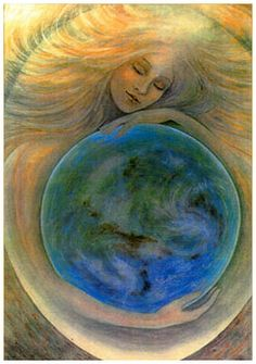 Gaia was the mother of the Titans, or the immortals that ruled before the Greek gods. She was one of the first examples of the Mother Earth archetype. Goddess Art, Earth Goddess, Sacred Feminine, Gods And Goddesses, Book Of Shadows, Greek Mythology, Celtic Mythology, Tantra, Old Things