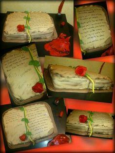 Tarta romántica personalizada....