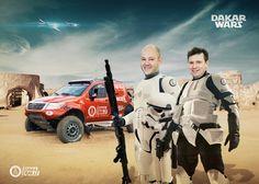 #Dakar saga is continuing. The force is even mightier this year. #starwars #dakar2016