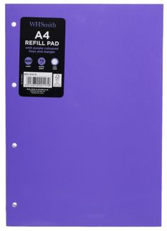 WHSmith Purple A4 Refill Pad