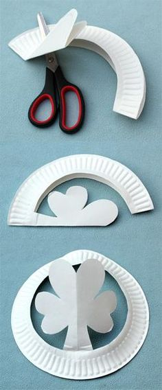 Paper Plate Shamrock Hats - St. Patrick's Day Craft for Kids