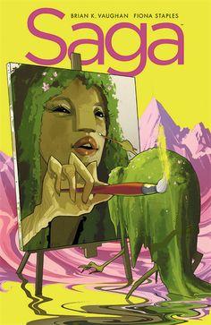 Saga #23, Cover Art by Fiona Staples