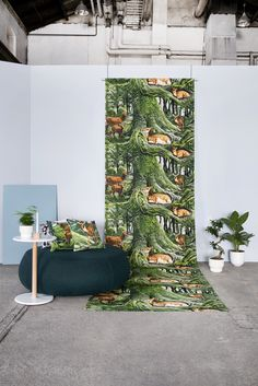 Vallila AW16 Instincts Close To Home, Varanasi, Japanese Culture, Home Collections, Earthy, Colours, Wallpaper, Plants, Pattern