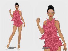Look inspirado que Christina Aguilera usou no redcarpet do VMA 2002