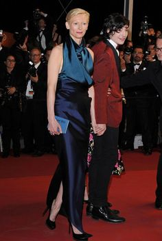 """Tilda Swinton and Ezra Miller Photos - Cannes 2011 - """"We Need to Talk About Kevin"""" Premiere. - Zimbio"""
