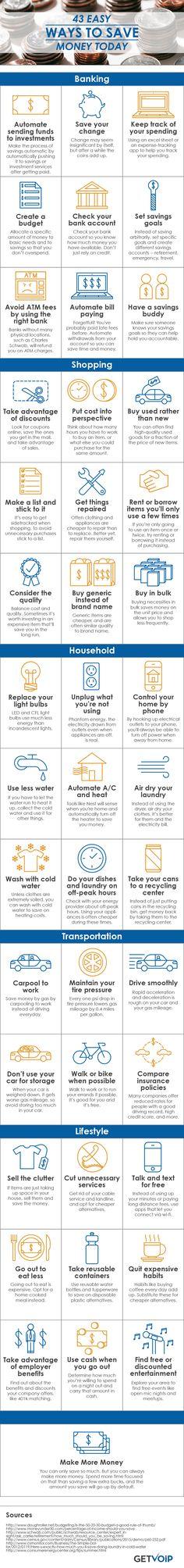 43 Easy Ways to Save Money Today