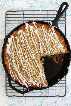 brown butter apple crisp skillet muffin bread by girlversusdough, via Flickr