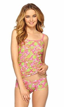 Lilly Pulitzer Hanky Panky Basic Unlined Camisole shown in Hotty Pink Luscious.