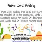 WORD FINDING!!  This packet includes 24 object association cards, 24 occupation association cards, 24 descriptive word cards, and 24 opposite naming cards!!