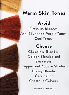 Hair How to choose the Hair Colour that will suit your Skin Tone. - Life with Alyda Hair How to choose the Hair Colour that will suit your Skin Tone. Hair Color For Asian Skin, Hair Color For Warm Skin Tones, Hair Color For Morena Skin, Yellow Skin Tone, Colors For Dark Skin, Cool Skin Tone, Hair Color Dark, Cool Hair Color, Trendy Hair Colour