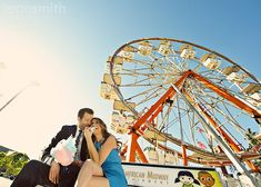 love this perspective and the sky...and now I want some cotton candy! #couples #carnival