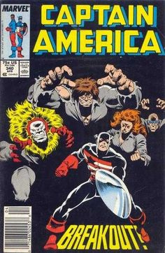 Captain America # 340 by Ron Frenz & Bob McLeod