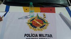 Foto: PMDF/reprodução.    Dois alunos foram detidos pela PMDF por estarem consumindo bebida alcoól...